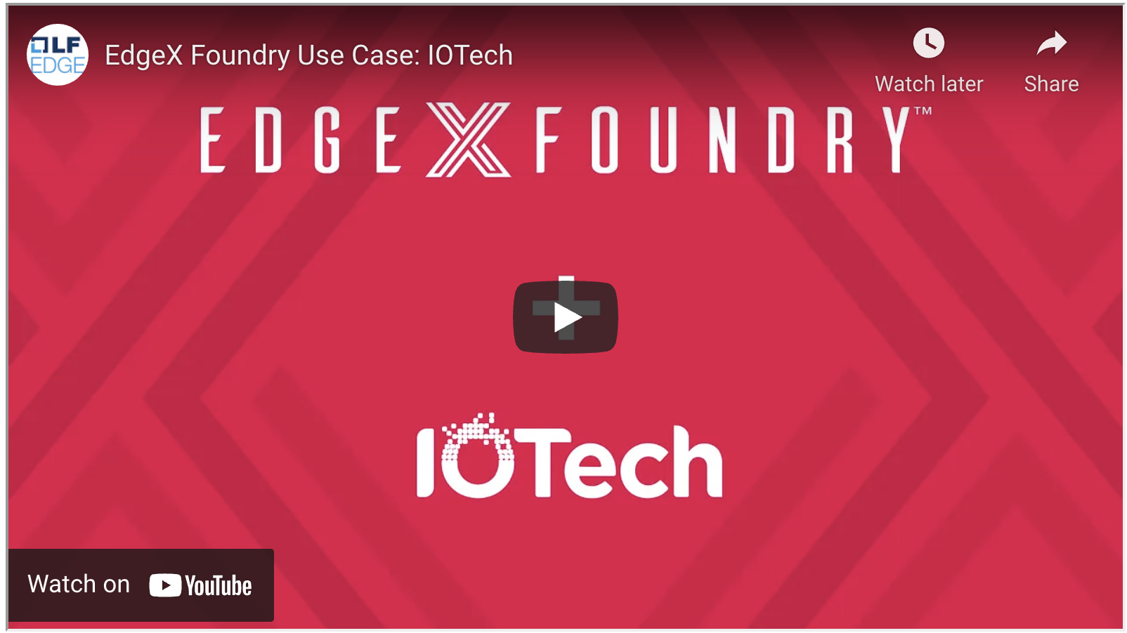 IOTech EdgeX Adopter Series Presentation